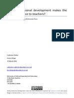 What Profe Development Make to Teachers