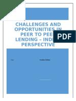 Challenges and Opportunities in Peer to Peer Lending - Indian Perspective - Kartikeya Kodkani