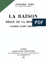 La Raison - Leonard Lehu