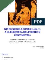 Los Escolios a Odisea 11.100-37, A La Búsqueda Del Poseidón Continental