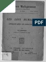 Les Lois Humaines - Janssens