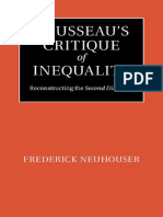 Rousseaus Critique of Inequality Reconstructing the Second Discourse