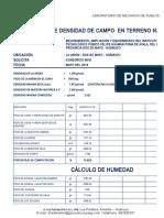 Densidad de Campo Losa Deportiva