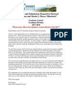 Dissertations Theses Formatting Manual