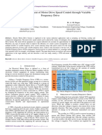 Analysis and Assessment of Motor Drive Speed Control through Variable Frequency Drive