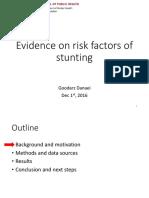 GDanaei Evidence on Risk Factors of Stunting 1dec2016