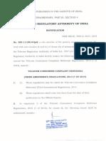 TCCR Regulation 3rd Amendmen
