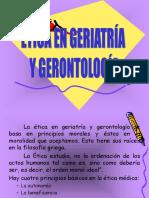 Ética en Geriatría y Gerontología