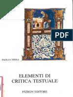 Chiesa Elementi Critica Testuale Patron