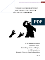 Laws and Precedent Based Study on Prohibition of Torture