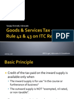 GST - ITC Rule 42, 43