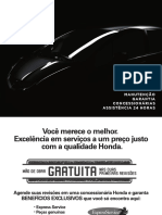 HONDA FIT 2013 - Manual de Manutenção e Garantia