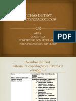 Fichas de Test Psicopedagogicos