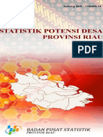 Statistik Potensi Desa Provinsi Riau 2014