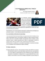 ESTRATEGIAS QUE PROMUEVEN CAMBIOS EN EL TRABAJO EDUCATIVO