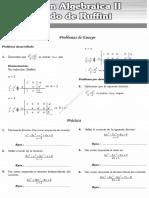 División Algebraica 2 Método de Ruffini
