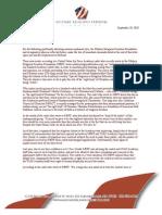 MRFF Demand Letter to DoD - September 28th