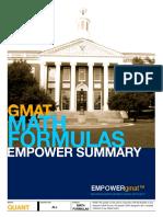 EMPOWERgmat Math Formulas