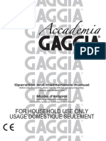 Gaggia Accademia User Manual