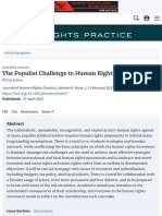 Populist Challenge to Human Rights Journal of Human Rights Practice Oxford Academic
