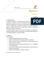 Programa Álgebra 1º2018