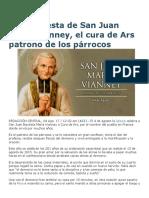 Hoy Es Fiesta de San Juan María Vianney