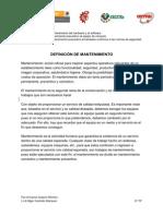 DEFINICIÓN DE MANTENIMIENTO
