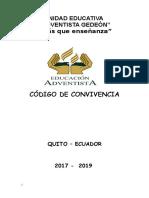 1 Código de Convivencia 2017-2019