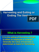 Harvesting and Exiting or Ending the Venture-5