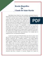 l c de Saint Martin Resena Biografica