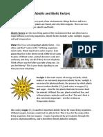 Abiotic and Biotic Factors DF