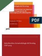 PWC, Metodologia Del Scoring