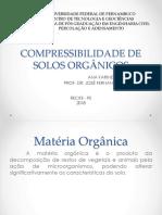 12 - Compressibilidade de Solos Organicos