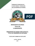 Udabol Formato de Una Monografía