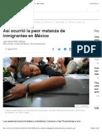 Así ocurrió la peor matanza de inmigrantes en México - BBC Mundo