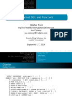 Adv SQL and Functions