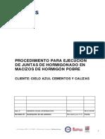 17054-9!21!000-If-pr-001-Rev0-Procedimiento Para Ejecución de Juntas de Hormigonado en Macizos de Hormigón Pobre