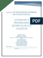 Acetileno y Propiedades Quimicas de Los Alquilos