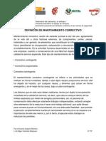 DEFINICÓN DE MANTENIMIENTO CORRECTIVO