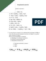Estequiometria ejercicios quimica
