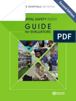 Hospital Safety Index Evaluators
