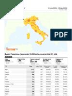 Statistiche Città d'Italia VLOG SORDI Giugno 2008