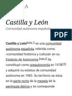 Castilla y León - Wikipedia, La Enciclopedia Libre