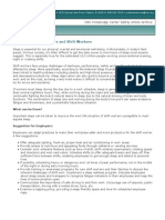 Sleep Tips for Employers and Shift Workers (PDF)