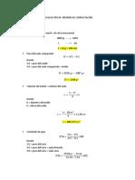 Cálculos Tipicos Informe de Compactación