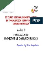 Diapositivas Del Módulo de Evaluación de Proyectos - OTE CR