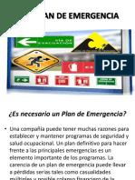 Presentación Plan de Emergencias
