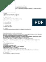 Características Principales Del Proyecto Ejemplo