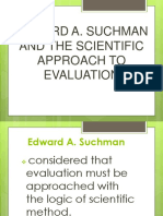 Edward a. Suchman and Scientific Method of Evaluation