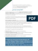 as normas ISO son documentos que especifican requerimientos que pueden ser empleados en organizaciones para garantizar que los productos y.docx